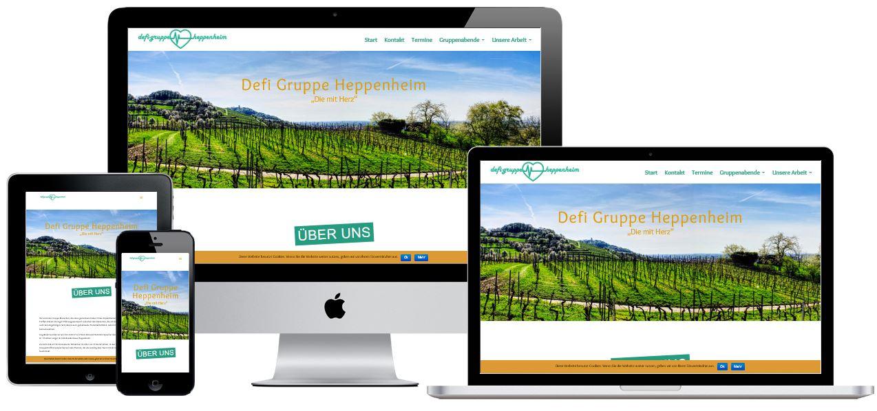 Wordpress Homepage für die Defigruppe Heppenheim
