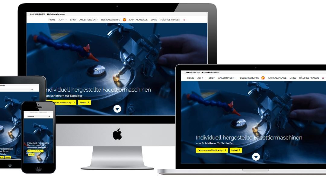 Online-Shop und Website für einen Maschinenhersteller