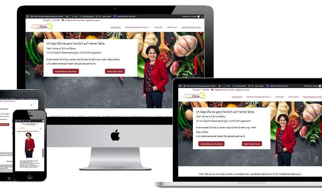 WordPress-Website und Logo für eine Ernährungsberaterin