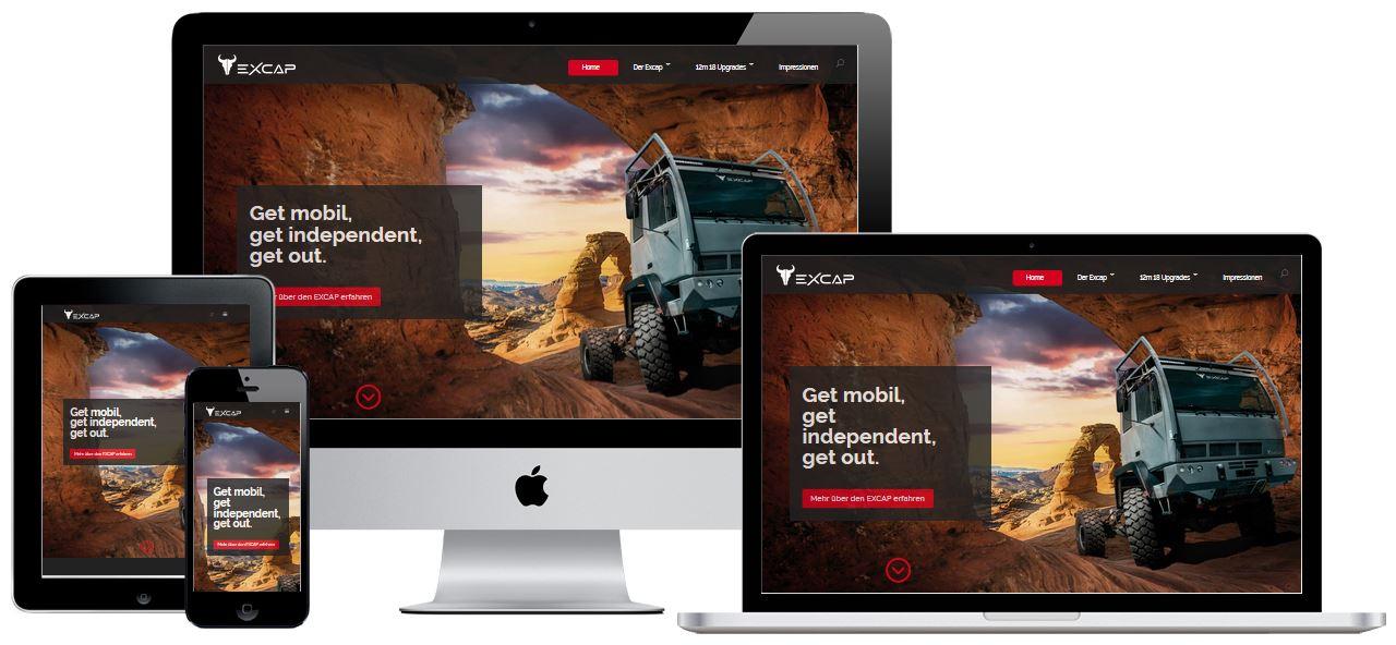 Website, Webentwicklung für EXCAP