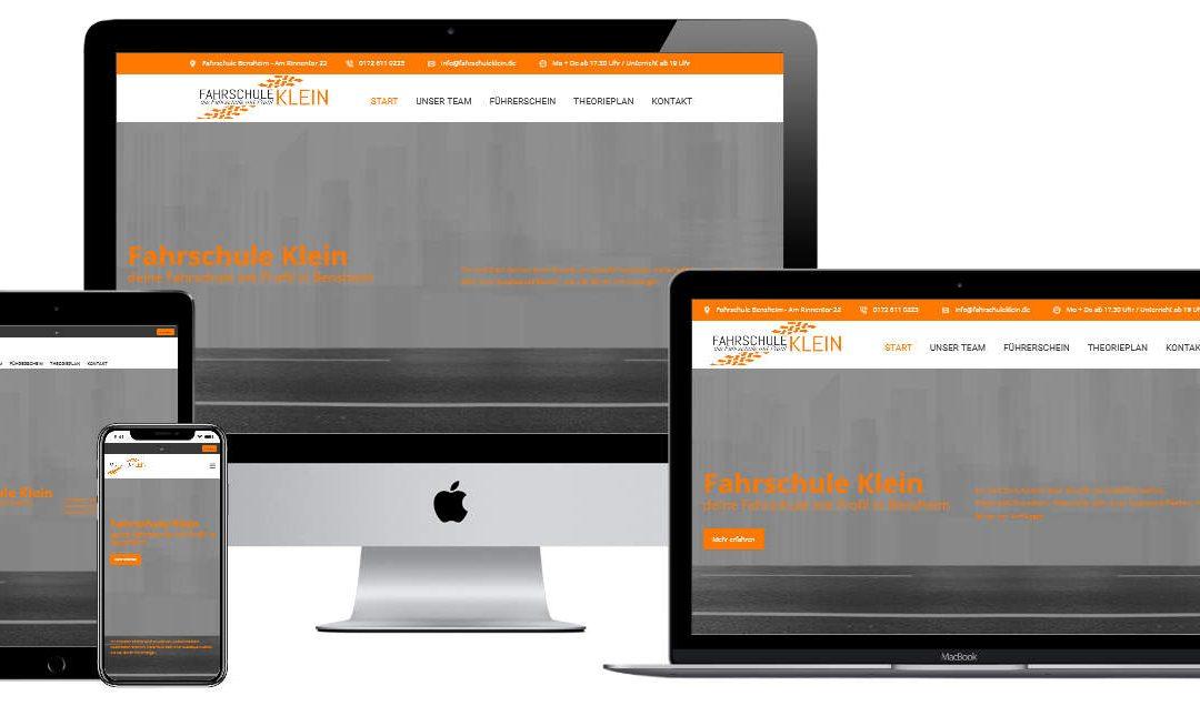 Weiterentwicklung der Homepage für Fahrschule