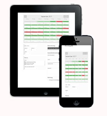 Die Homepages und das Reservierungssystem sind Smartphone und Tablet optimiert