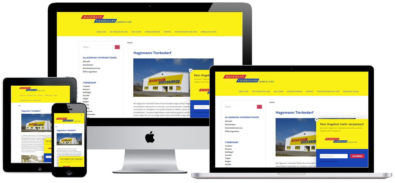 Website Hagemann Tierbedarf GmbH & Co. KG