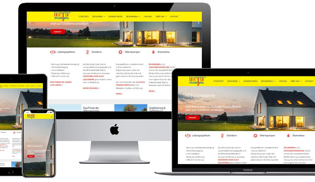 Fehlerbehebung und Erweiterung einer Firmenwebseite