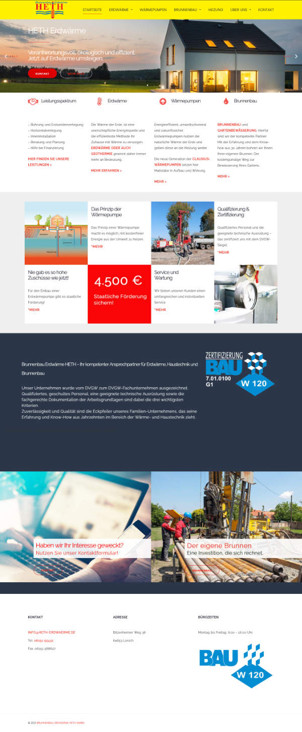 Startseite Firmenhomepage