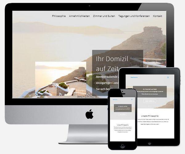 Responsive Homepage für Ferienwohnung