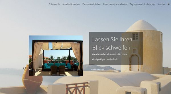 Webseite für Ferienwohnung