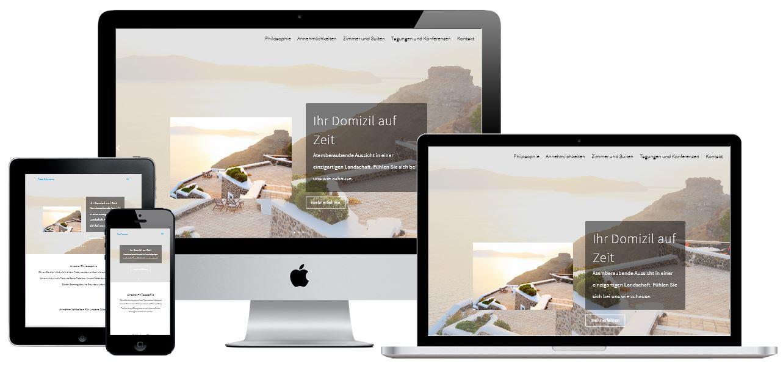 Beispiel Webseite für ein Hotel
