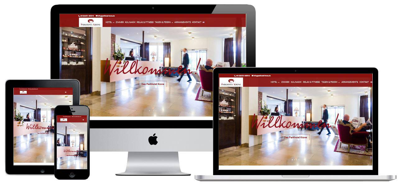 Homepage für das Parkhotel Krone, Bensheim Auerbach