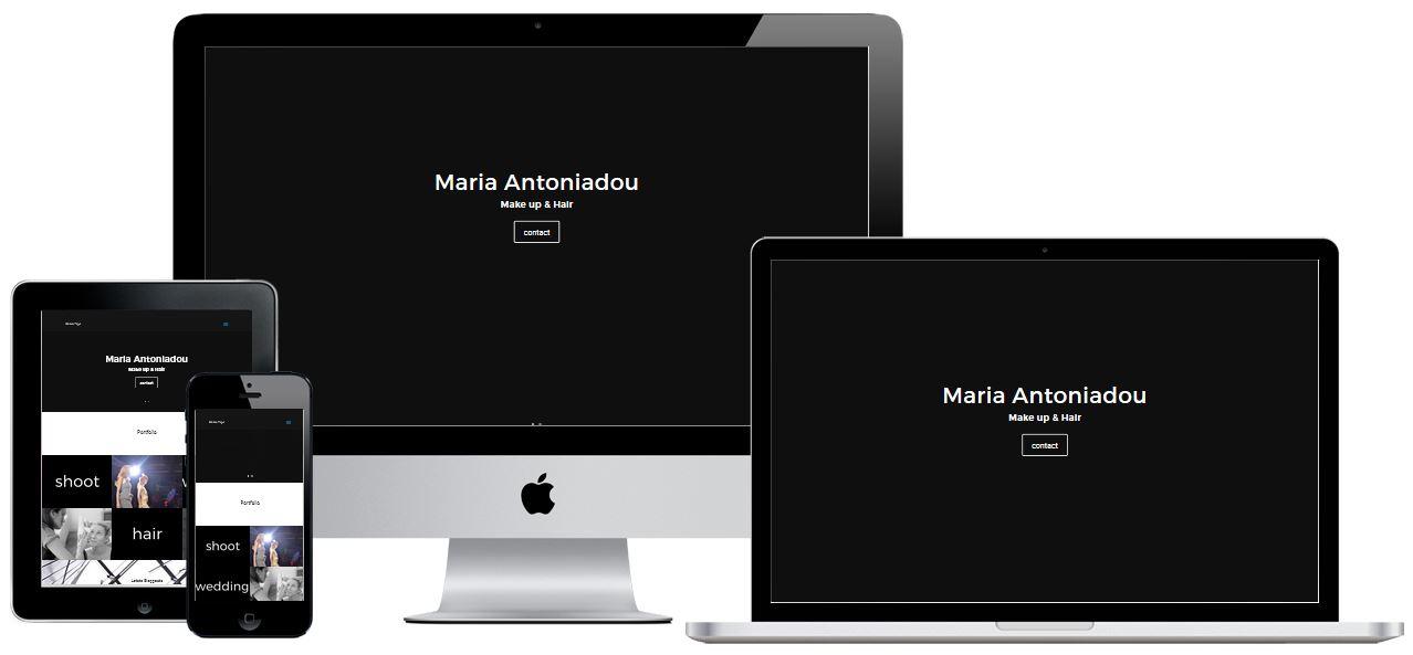 Responsive Homepage Maria Antoniadou Hair & Make up