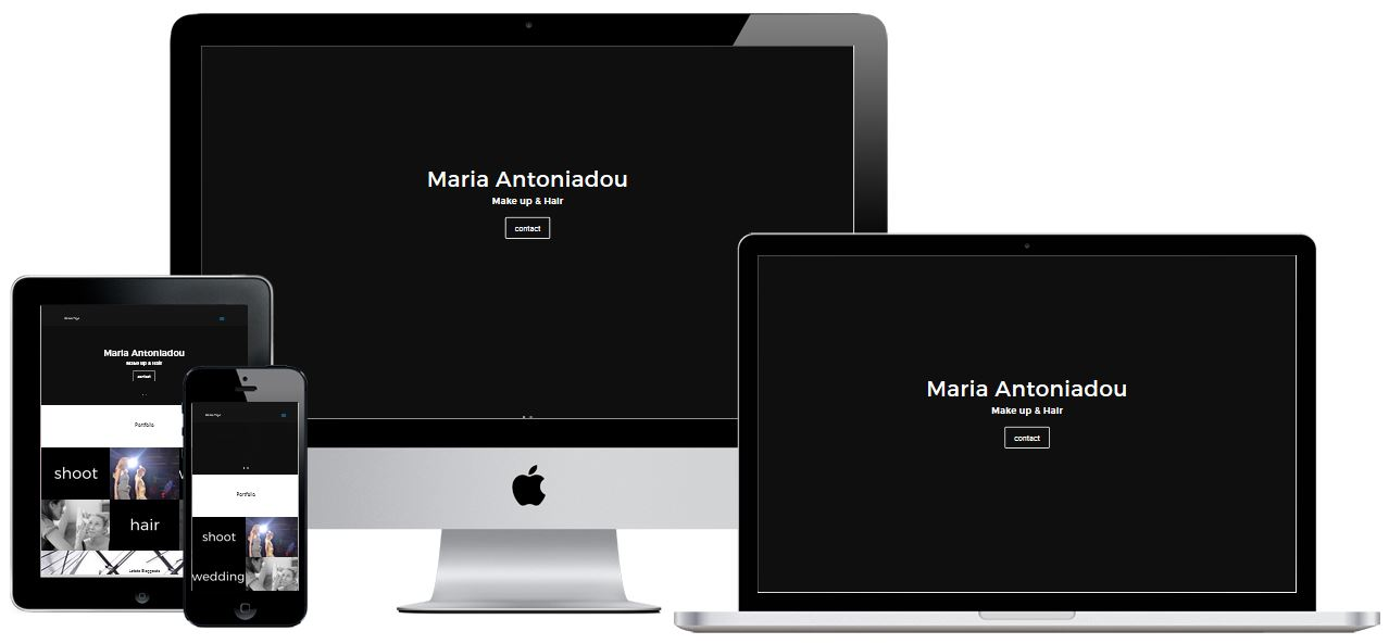 Responsive Homepage Maria Antoniadou Hair & Make up
