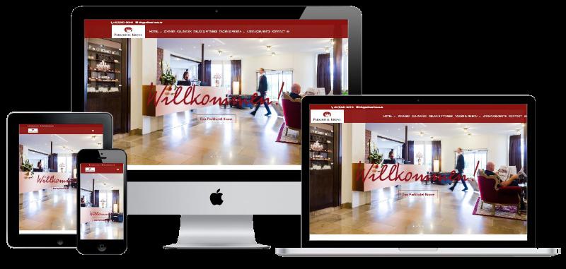 Homepage für das Parkhotel Krone Bensheim-Auerbach