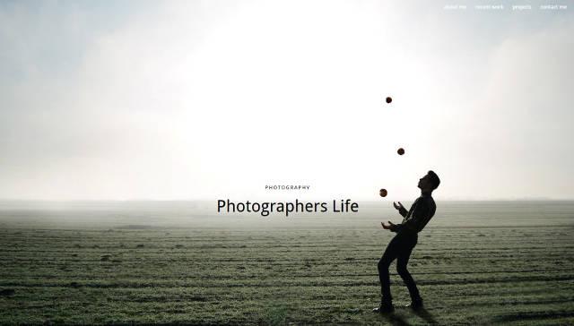 Ein Website Design für Fotografen, Kunstschaffende und Blogger