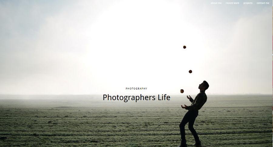 Beispiel-Design für Fotografen