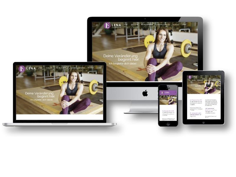 Website für Personal Trainer