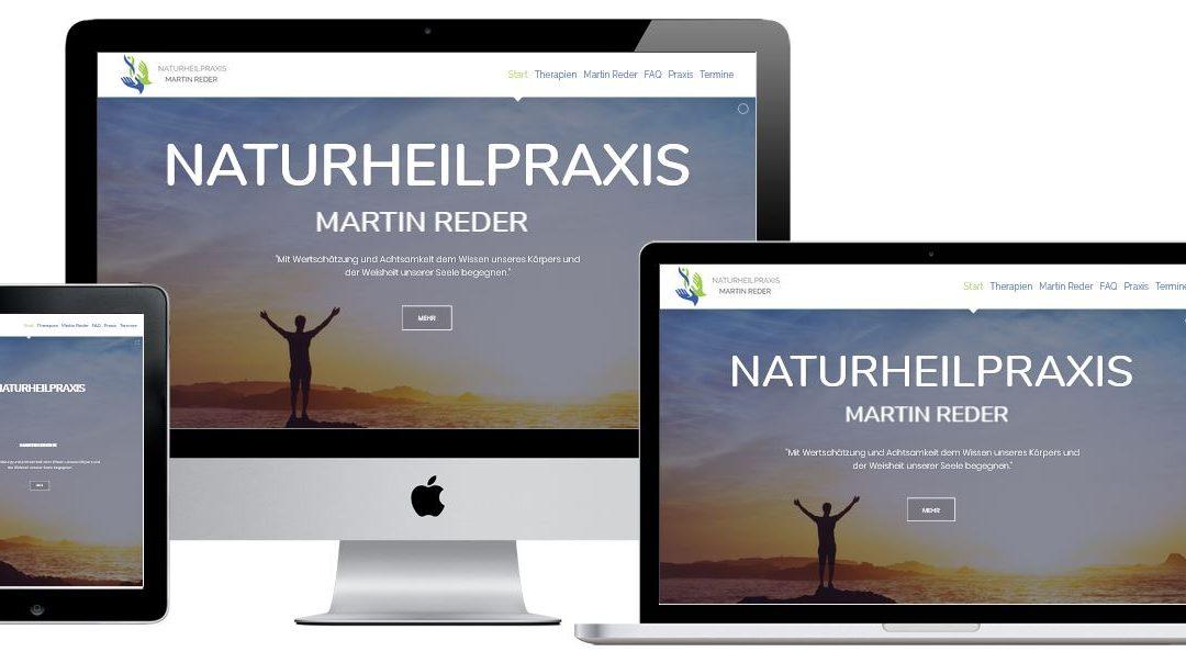 Webseite für Naturheilpraxis