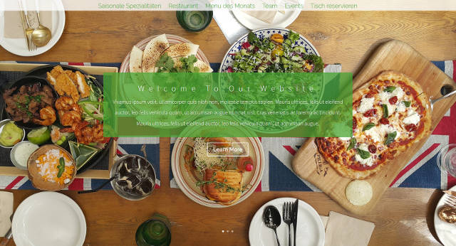 Beispiel-Design für eine Restaurant Website