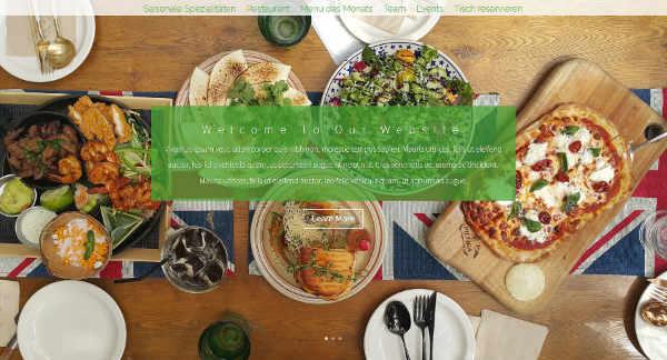 Website-Demo: Restaurant-Layout