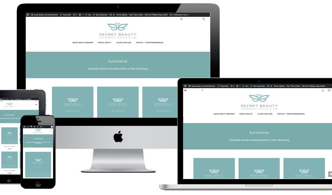 Wiederbelebung der Webseite Secretbeauty-Bensheim.de