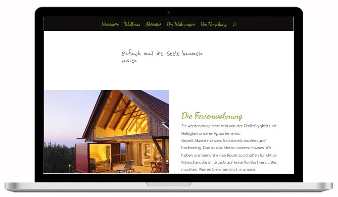 Beispiel einer Ferienwohnung Website