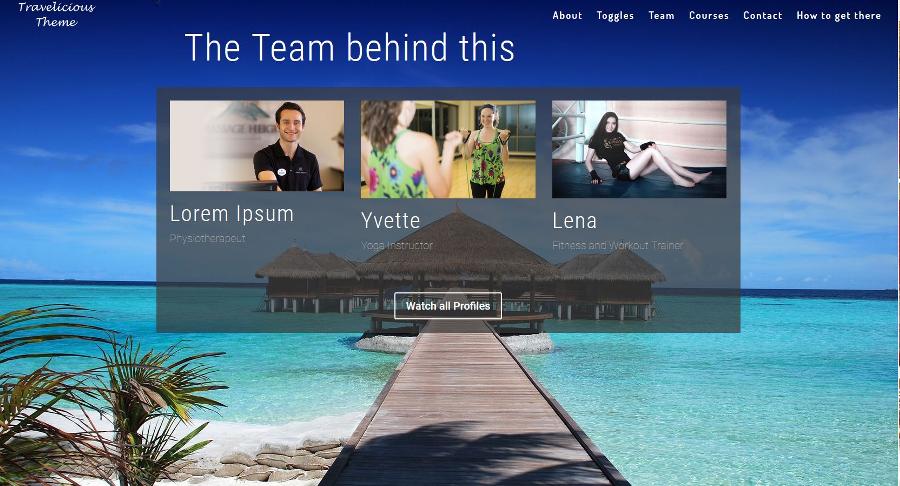 Homepage-Design Beispiel