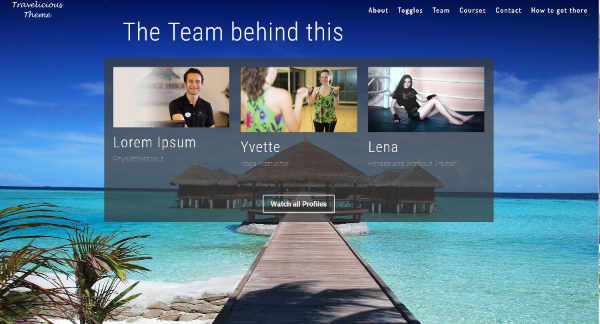 Hotel-Homepage Design Beispiel