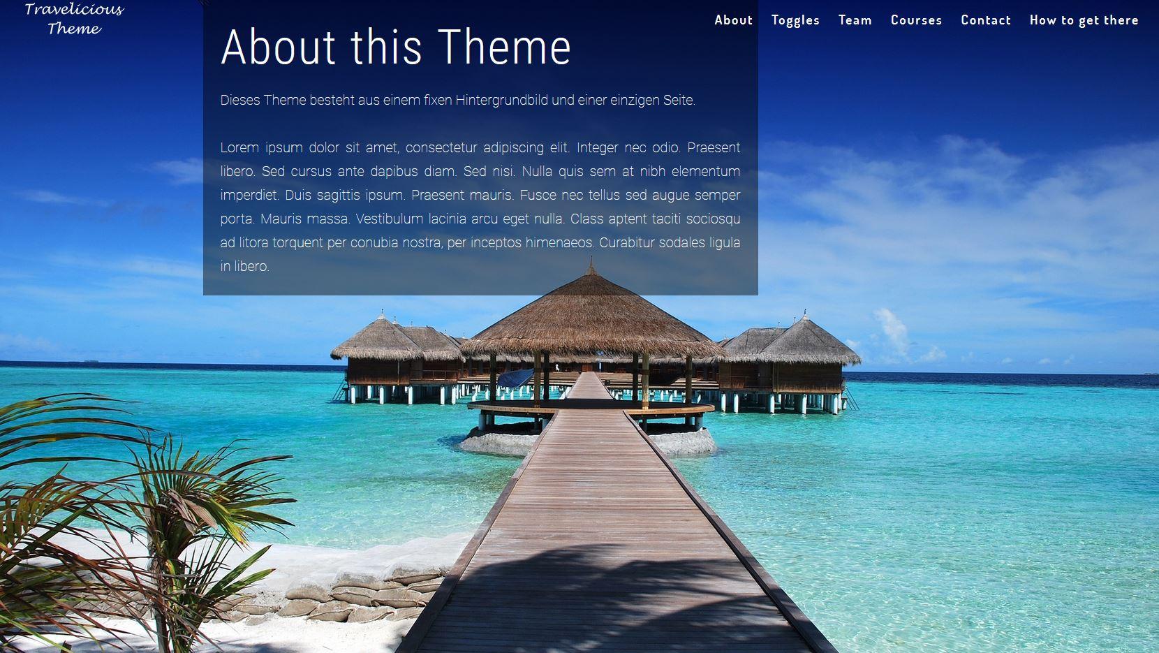 Ein Website Design für Reiseblogger, Agenturen und Hotels